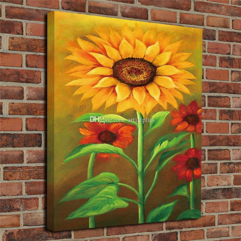 2019 HD Prints Modern Giclee Print Art Home Decor Sunflower Oil Painting Wall Canvas Poster Picture Unframed From Artistplus 796