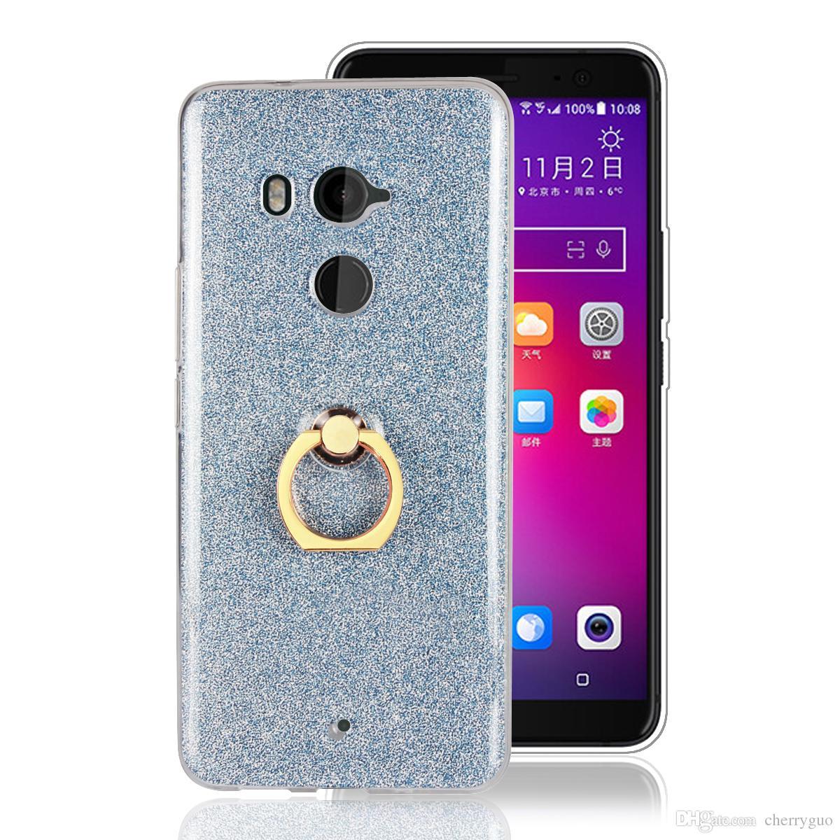 dbc591252b2 Phone Case for HTC U11 Plus, Soft TPU Transparent Bling Back Cover ...