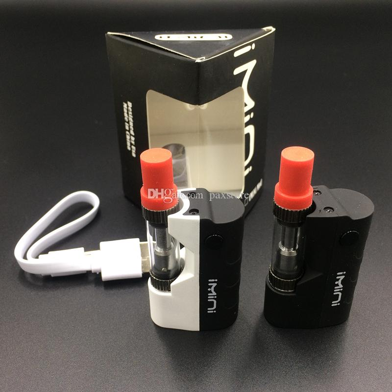 5 Units Imini Mod Kit Thick Oil Vaporizer Kit Liberty V1 Tank 500mAh Box Mod 0.5ml 1.0ml Vape Cartridges DHL FREE