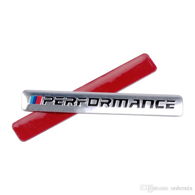 جديد الأداء موتورسبورت المعادن شعار سيارة ملصق الألومنيوم شعار الشواية شارة لسيارات bmw e34 e36 e39 e53 e60 e90 f10 f30 m3 m5 m6