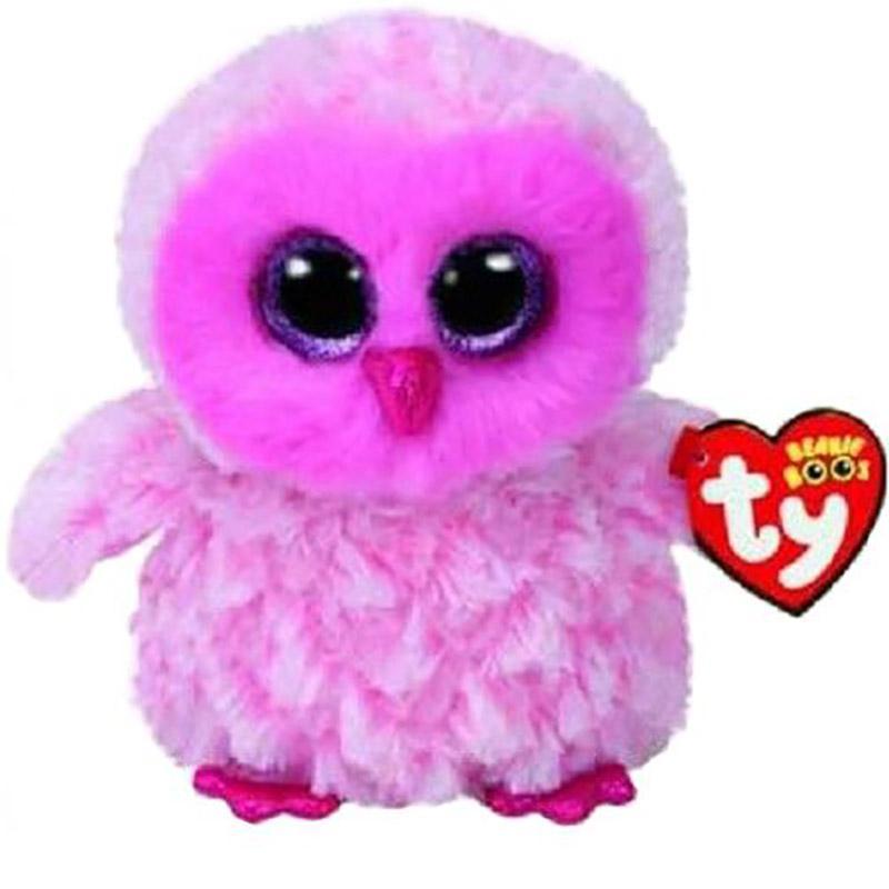 2019 Ty Beanie Boos 6 15cm Twiggy The Pink Owl Plush Regular Soft
