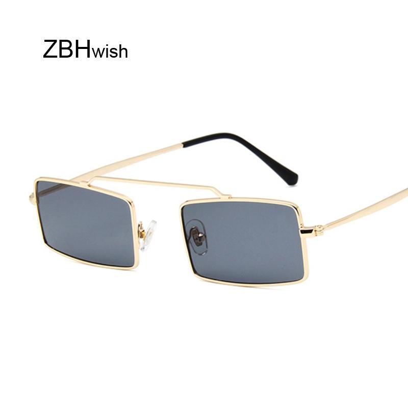 Vintage Sun Glasses Women Men Square Shades Rectangular Frame