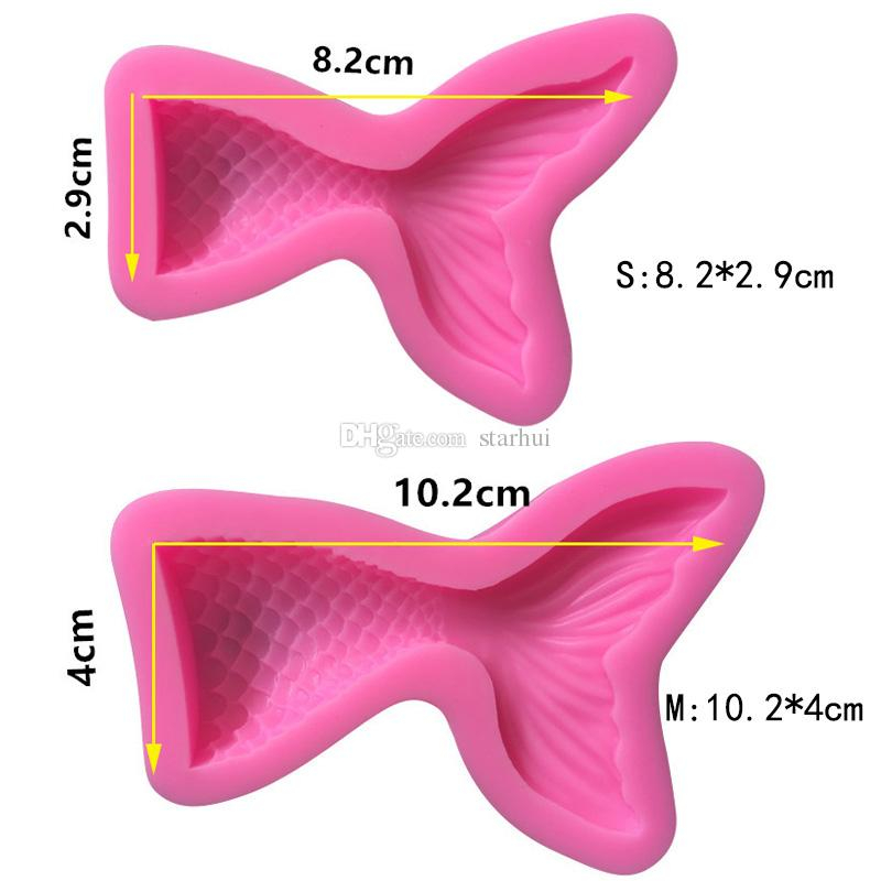 New Mermaid Shaped Mould Pink Silicone Mold for Cake Chocolate Baking Candy Maker DIY Cake Soaps Kitchen Tools Bakeware WX9-457
