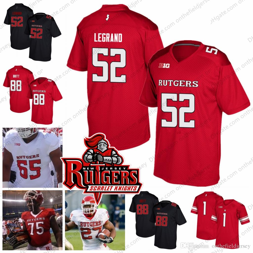 2019 Rutgers Scarlet Knights  27 Ray Rice 52 Eric LeGrand 75 Anthony Davis  88 Kenny Britt College Football Jerseys White Red Black S 4XL From ... 38f014e82
