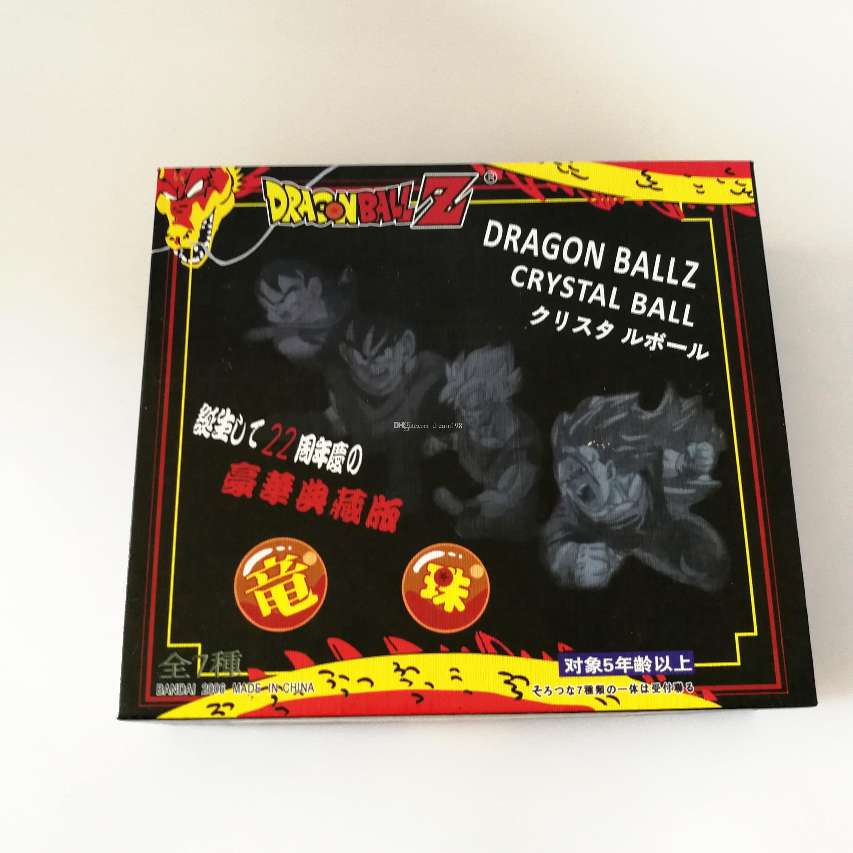 New cristal DragonBall Na Caixa Dragon Ball Z Bolas completos Action Figure Toy Para melhores presentes / Tamanho: 3,5cm DR1