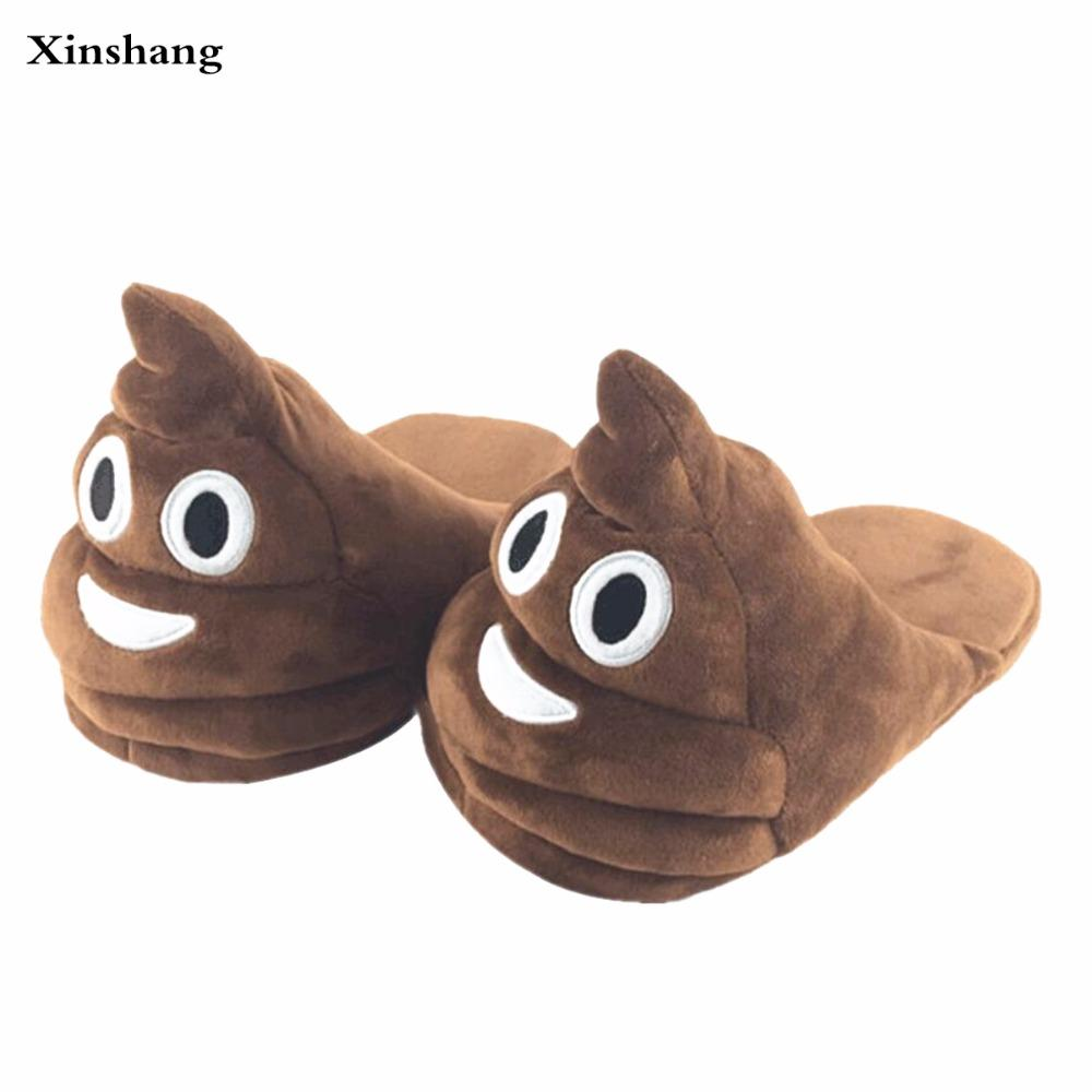 Plush Winter Slippers Indoor Animal Emoji Furry House Home With Fur Flip  Flops Women Fluffy Rihanna Slides Fenty Shoes Womens Trainers Kids Boots  From Faaa ed1322056