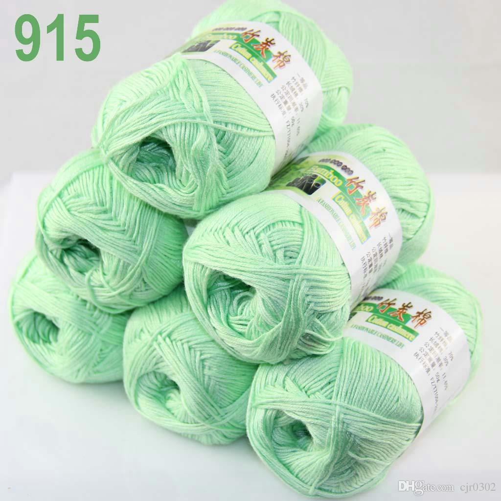 Of 6 Skeins Soft Natural Smooth Bamboo Cotton Yarn Knitting 322 Yarn