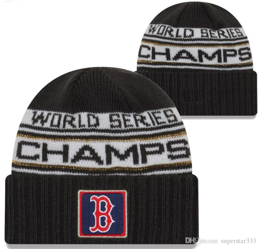 Factory Price 2018 WS Red Sox World Series Champions Parade Beanie Winter  Sport Knit Hat Adjustable Cap Women Men Snapback Baseball Caps Baseball Hat  Beach ... f11713b09b6