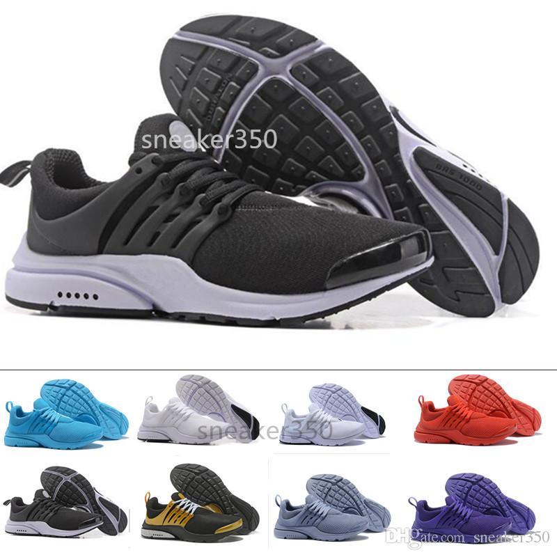 new product da172 45ef7 Compre Nike Air Max Presto 2018 Zapatos Casuales Presto Br Qs Respire  Amarillo Negro Blanco Hombres Mujeres Puertos Zapatos Zapatillas Caminando  Zapatos De ...
