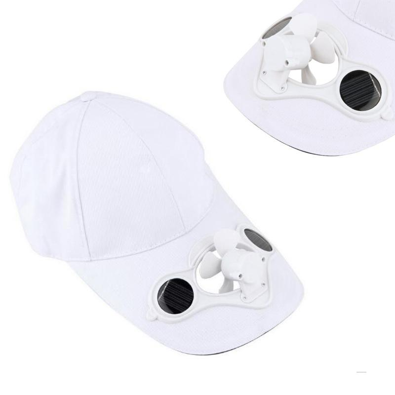 1c102ce8f26 Cap Fashion Solar Hat Summer No Batteries Sun Power Hot Energy Cool Fan  Fitted Caps Black Baseball Cap From Haydena