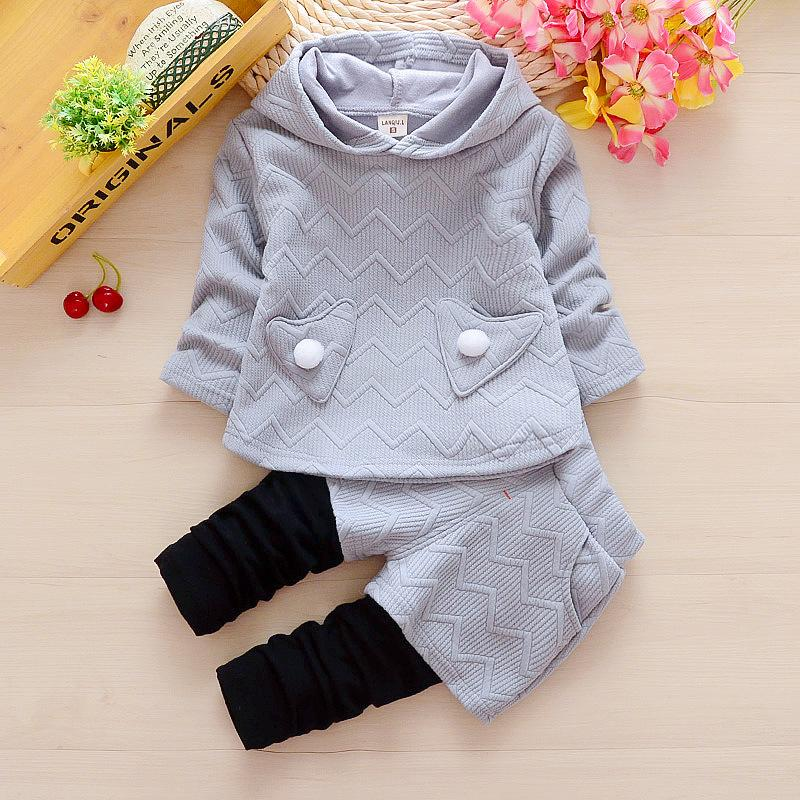 9658d1f0a1f8 2019 Newborn Baby Girls Spring Autumn Clothing Sets Toddler Hoodies+ ...