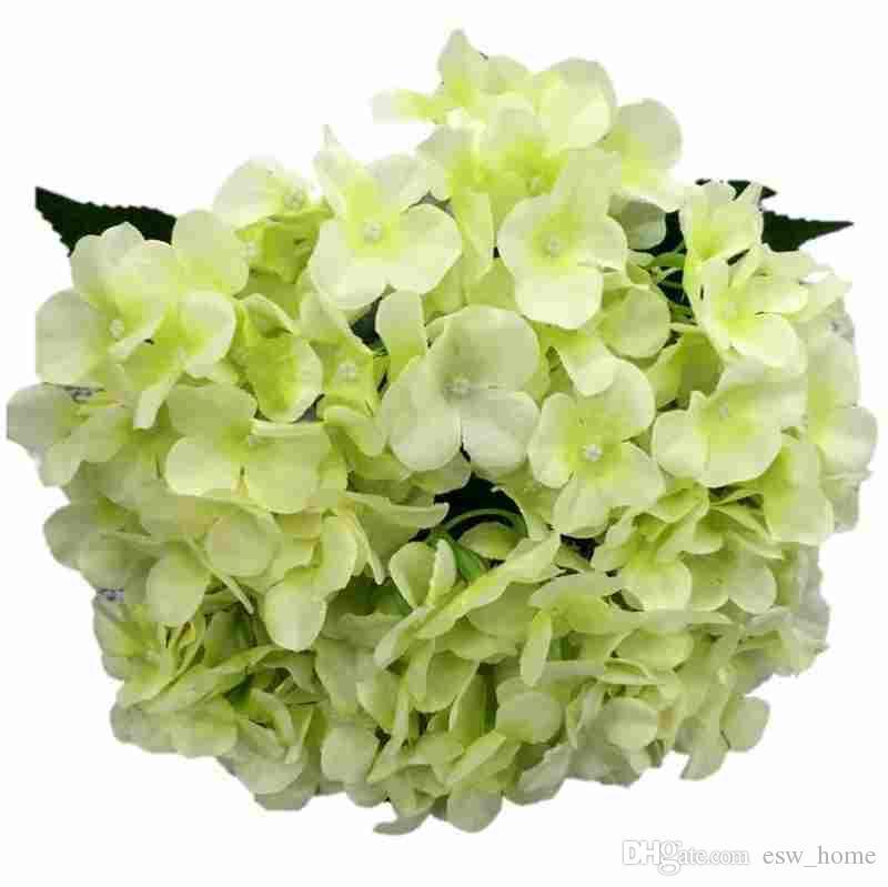 Satın Al Yapay çiçekler Ipek Sahte çiçek Buket Yapay Ortanca Ev