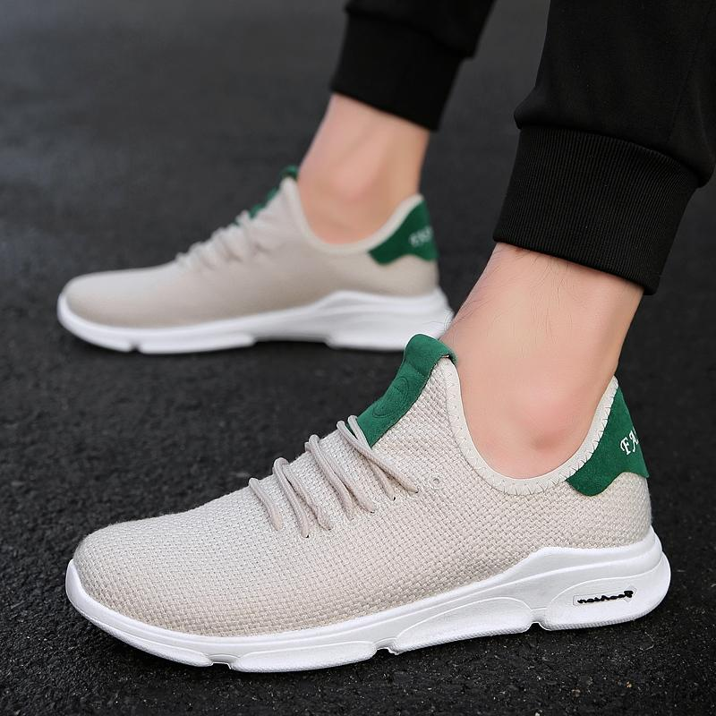 Spring Autumn Men Trainers Shoes Breathable Jogging Zapatos Hombre Tenis Masculino Male Sneakers Casual Footwear Sport Running Shoes Men's Casual Shoes