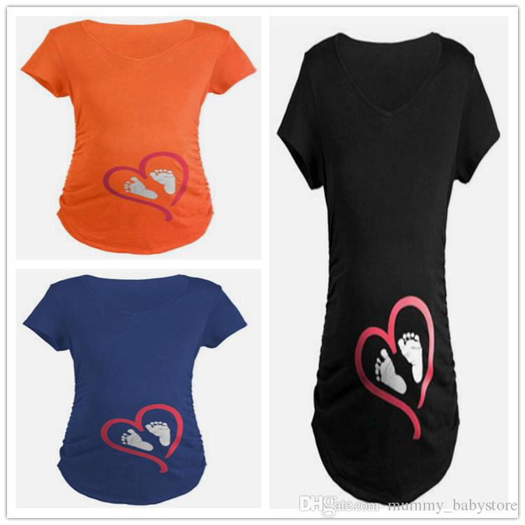3f2fb53681446 2019 Summer Plus Size Pregnant Women T Shirts Short Sleeve Maternity Tees  Clothes Nursing Top Pregnancy From Mummy_babystore, $15.04 | DHgate.Com