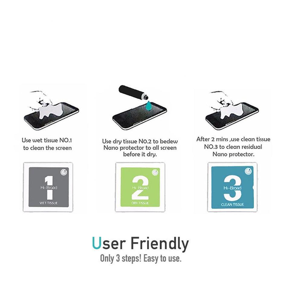 1ML 3ML 5ML Nano Coating Protector de pantalla líquido para pantalla de cristal universal Película de protección para todos los teléfonos inteligentes 9H 4D 5D de vidrio curvo completo