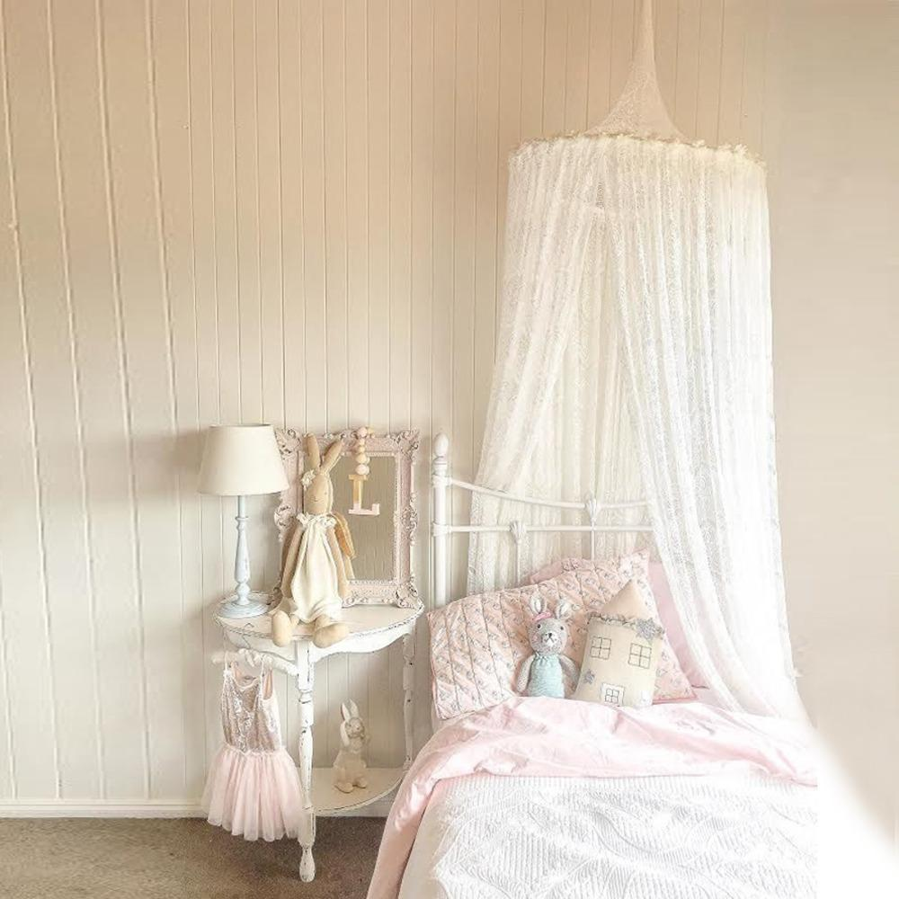 New Nordic White Lace Baby Girls Princess Dome Canopy Bed Curtains Round Kids Play Tent Room Decoration Bed Hanging Crib Netting Original Cozy Crib Tent ... & New Nordic White Lace Baby Girls Princess Dome Canopy Bed Curtains ...