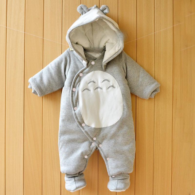 dbed34b53 Compre Ropa De Bebé Recién Nacido De Algodón De Una Pieza Gruesa Con  Capucha Bebé Caliente En Otoño E Invierno Ropa Mameluco Estilo Animal  Totoro Pingüino A ...