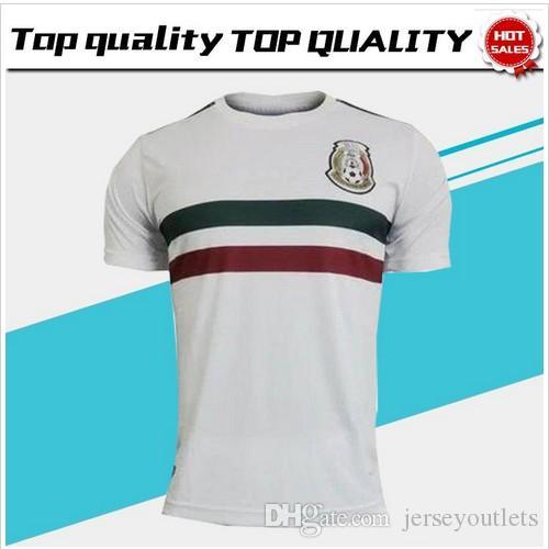6bd5cc804ec 2018 World Cup Mexico Away White Soccer Jersey Mexico Away Soccer Shirt  2018 World Cup Football Uniform Sales