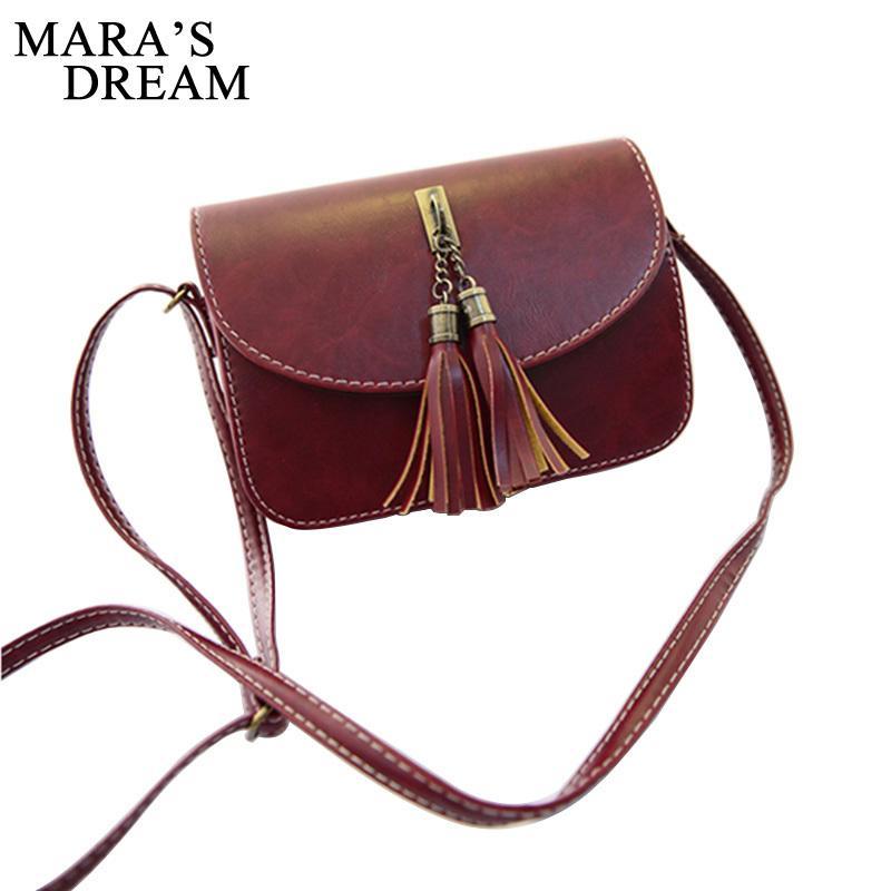 c43f7c7bf6 2019 Fashion Mara S Dream Vintage 2018 Small Bag Women Tassel Messenger  Bags Female Handbag Shoulder Bag Flap Women Bag Men Bags Handbag Wholesale  From ...