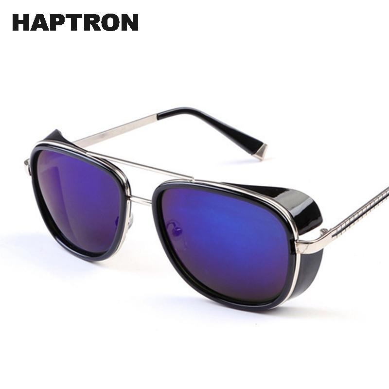 274cb70d11 HAPTRON Tony Stark Iron Man Sunglasses Men Luxury Brand Eyewear Mirror Punk  Sun Glasses Vintage Male Sunglasses Steampunk Polarized Sunglasses  Sunglasses ...