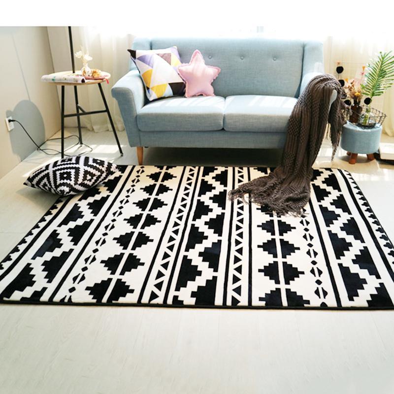 Großhandel Mode Schwarz Weiß Geometrische Ethnische Flur Wohnzimmer ...