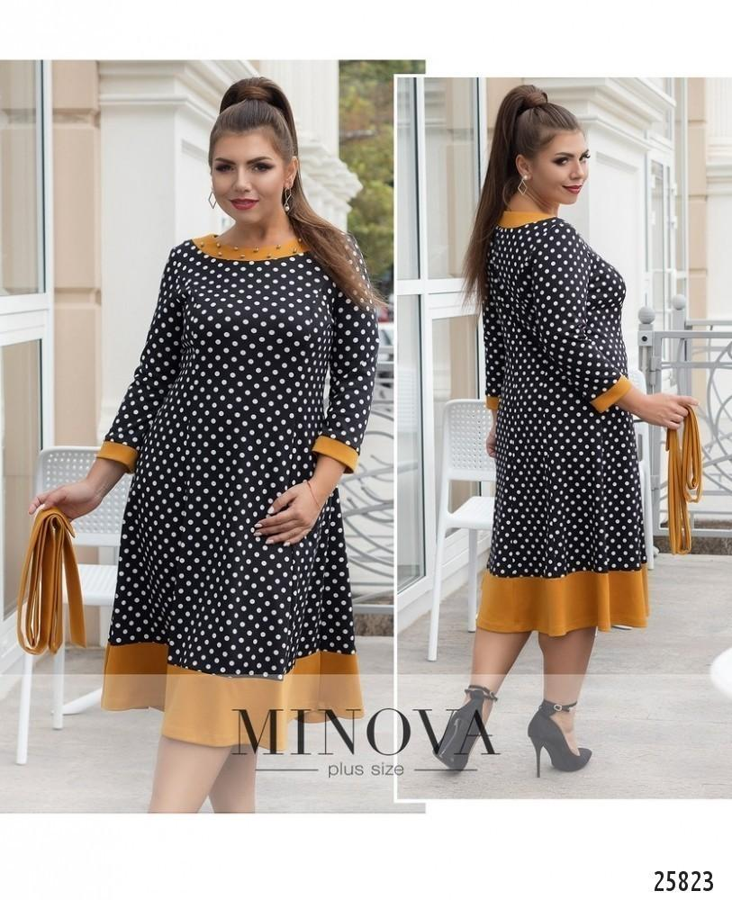 Vintage Black Women Dress Plus Size Winter Dress Polka Dot Christmas ...