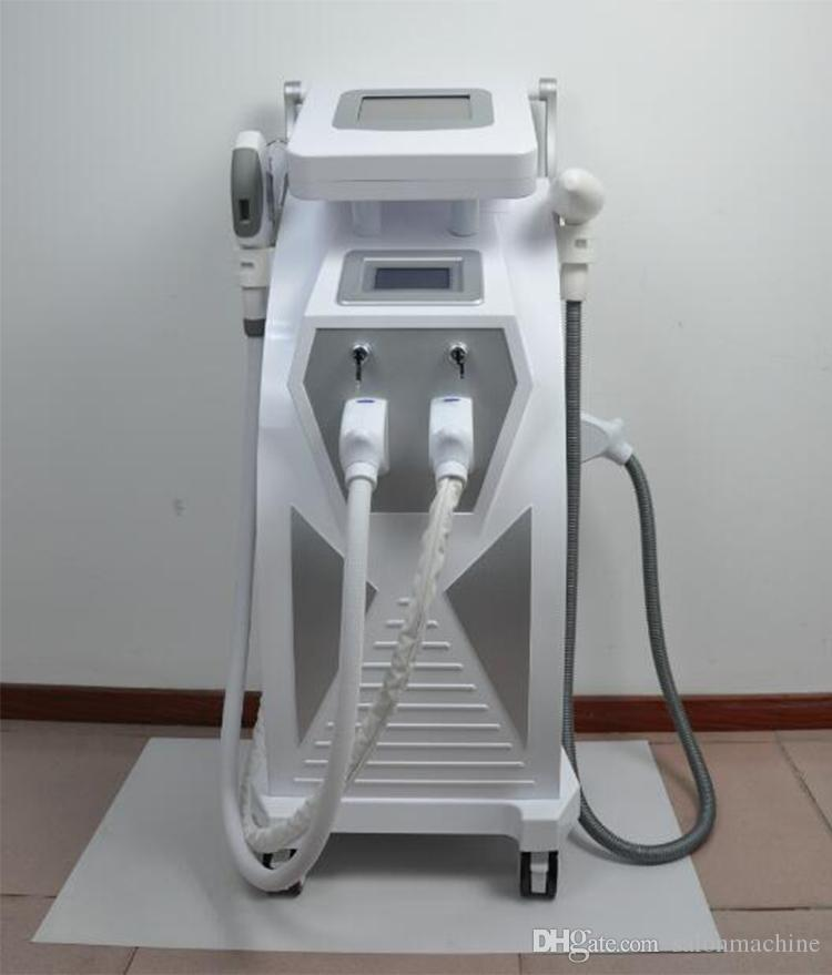 Best 3 handpieces ipl rf e-light shr opt Q Switch Nd yag laser hair and tattoo removal laser for sale