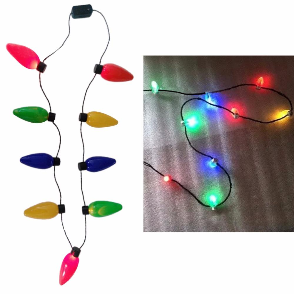 2018 led light up christmas bulb necklace flashing xmas parties favors birthday gifts from toyshome 2549 dhgatecom