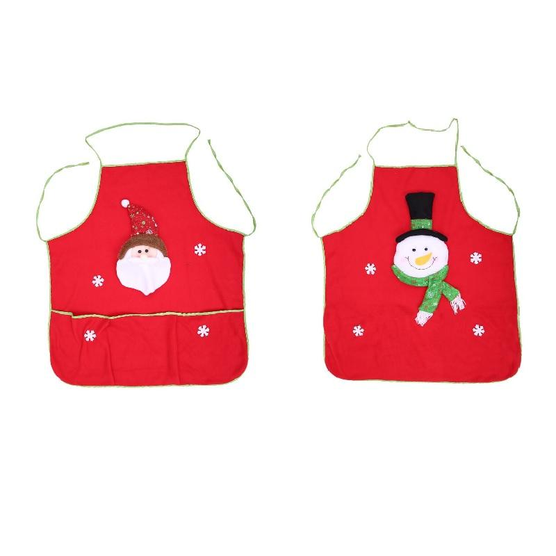 christmas apron adult 3d santa claus aprons with pocket kitchen dinner chef apron party cooking wholesale - Christmas Apron