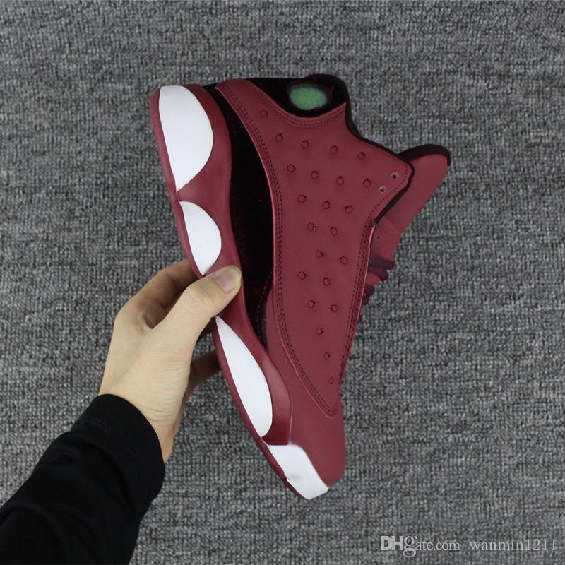 NIKE AIR JORDAN RETRO 2018 Alta qualità Nuovo 13 Velvet 13s Mens scarpe da basket uomo vino rosso bianco sportivo Sneakers taglia 41-47