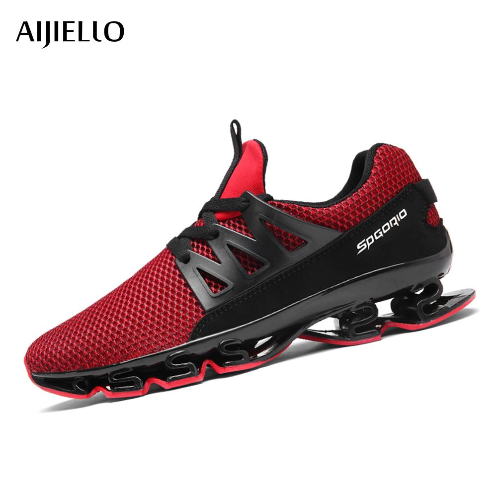 3db7e24529fc 2019 Men Running Shoes Outdoor Breathable Jogging Sport Blade Shoes For  Men S Krasovki Walking Sneakers Men Sneakers From Jinzoug
