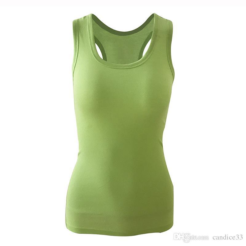 2018 여름 섹시 로우 컷 베이직 티셔츠 탱크 탑 솔리드 코튼 셀프 컬랙 티비 소매가없는 캐미솔 탑 여성용 조끼