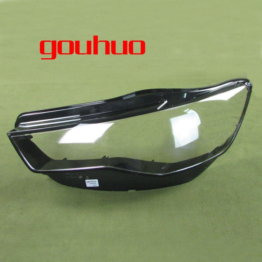 Headlight cover Transparent Cover Lampshade Headlamp Shell Lens Headlight  Glass for Audi A6L C7 16-17 2PCS