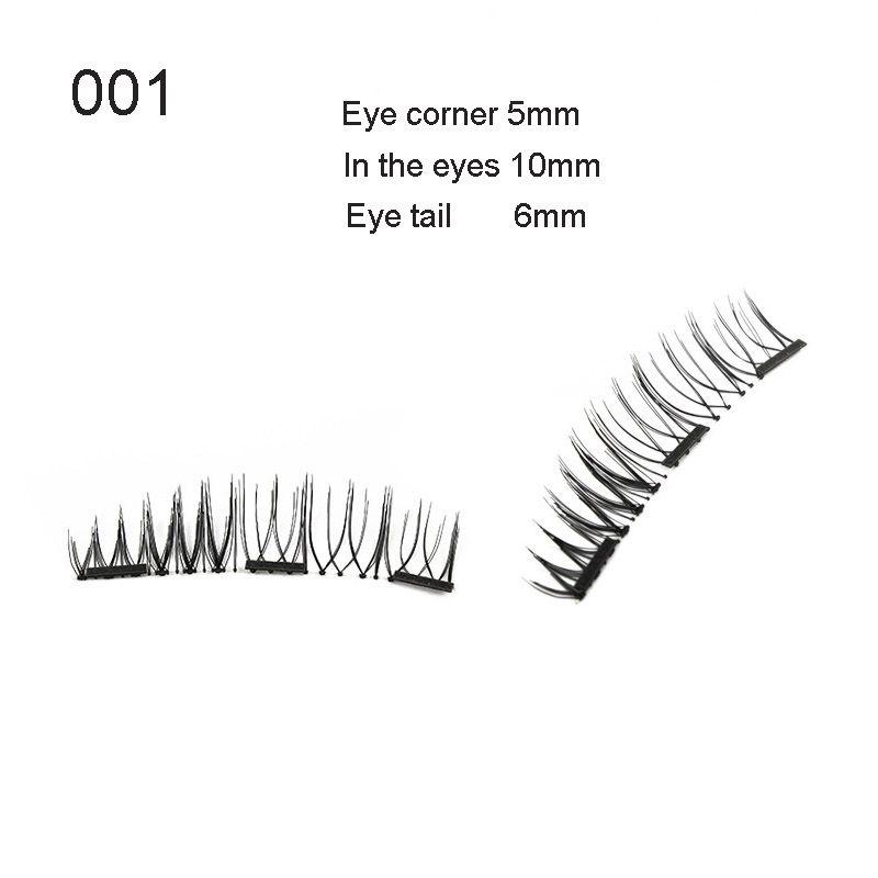 2018 New fashion Wholesale Magnetic Eyelashes Hand Made 3D Magnetic Lashes With length Magnets False Eyelashes
