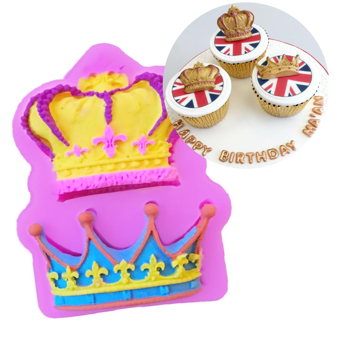 Silicone Mold Princess Crown Shape Baking Pan Cake Decorating Tools Chocolate Soap Mold Cake Stencils Kitchen DIY Tool