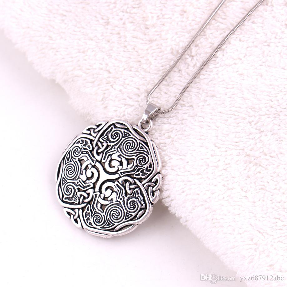 Wholesale norse 3 wolf celtic triskele triskelion pendant 925 wholesale norse 3 wolf celtic triskele triskelion pendant 925 sterling silver energy amulet snake chain pendant necklace diamond necklace necklaces for aloadofball Image collections