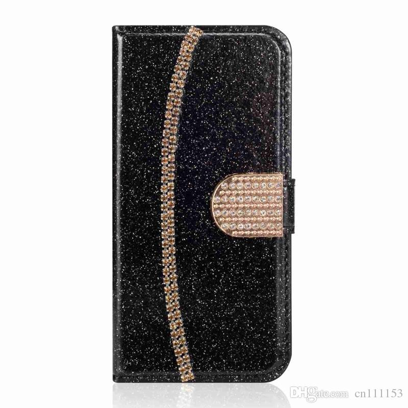 the best attitude 680ce dbcb5 Wholesale Wallet Case For Huawei P20 Pro P20 Lite P20 Mate 10 Pro P10 Lite  P10 Diamond and Chain Case for CellPhone
