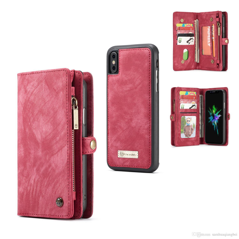 wholesale dealer da518 e3d86 shoppingmal Wristlet Leather Cash Clutch Multifunction Card Holder Purse  Zipper Wallet Phone Case Cover For IPhone X 5 5S SE 6 6S 7 8 Plus