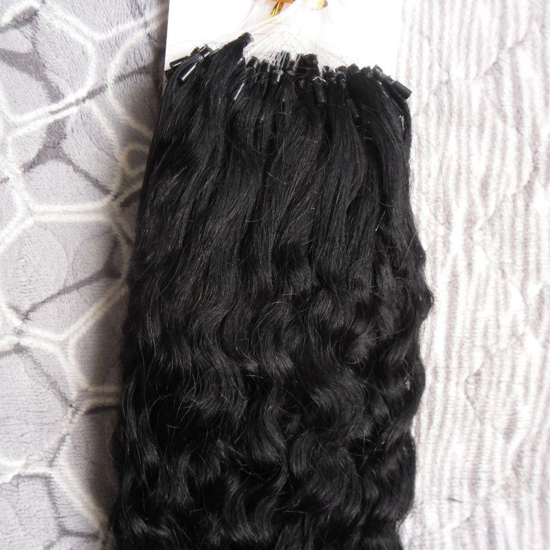 مايكرو حلقة نانو حلقة الشعر 1 جرام / ثانية 100 جرام 100 ثانية غريب مجعد الشعر البشري الانصهار ريمي الشعر الطبيعي الأسود براون شقراء