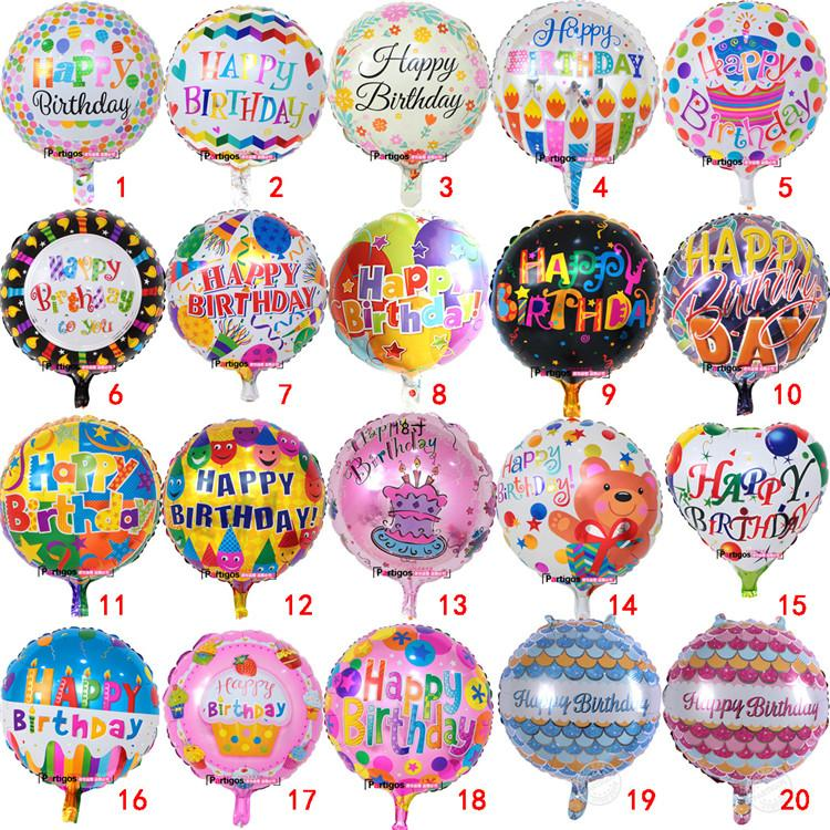 18 Inch Happy Birthday Letter Balloons Helium Foil Balloon Flower Cartoon Printed Celebrate Party Decoration Weight Ballon
