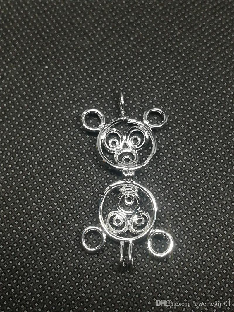 18KGP Yıldız Madalyon Kafesleri, Tutabilir Inci Mücevher Boncuk Kafes Kolye, DIY Moda Takı Yapımı Montaj P32