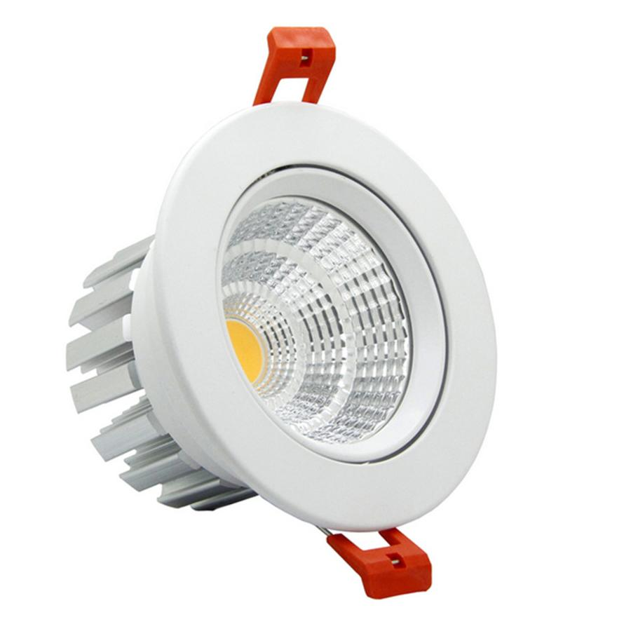 [DBF] Super Bright Epistar LED COB Recessed Downlight Dimmable 6W 9W 12W 20W LED Spot Light Ceiling Lamp Home Lighting 110V 220V