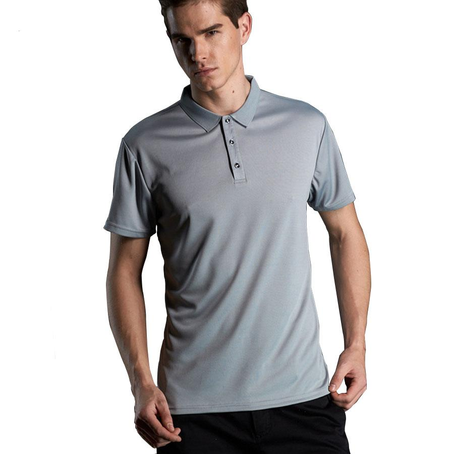 2019 Quick Dry Polos Slim Fit Polo Shirt Men Solid Breathable