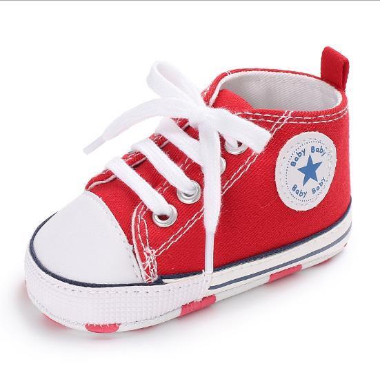 fe5f2b1101136 Acheter Chaussures Enfants Nouveau 0 1 An Hommes Et Femmes Fond Mou Walker  Chaussures Star Toile Bébé Chaussures De  8.17 Du Woerwofa1818