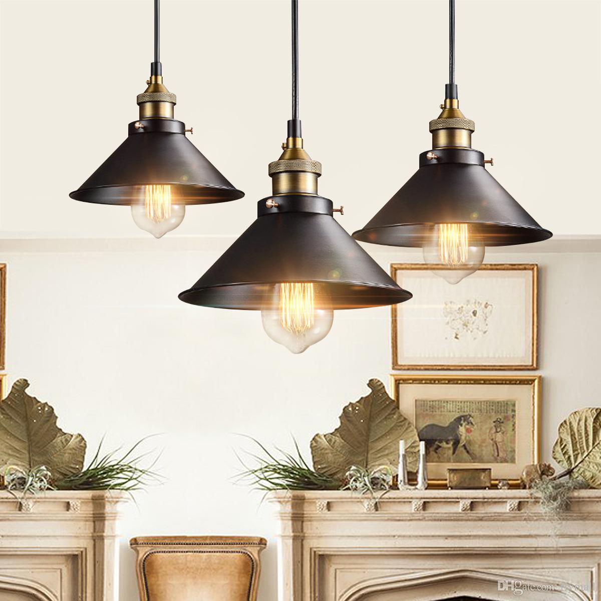 Grosshandel Retro Deckenleuchte Lampe Runde Vintage Industriedesign