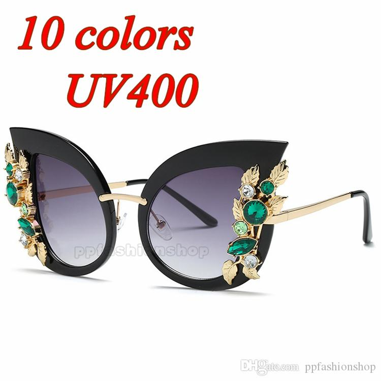 9cc14b3bf70 New Diamond Sunglasses Luxury Sunglasses For Women Large Frame Diamond  Flower Frame Glasses UV Protection Personality Sun Mirror Fastrack  Sunglasses Smith ...
