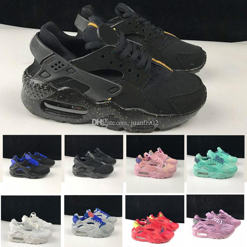 the latest 7606f ea330 Großhandel Nike Air Huarache 1 3 4 350 Air Huarache Klassische Weiß Schwarz  Huarache Schuhe Große Kinder Jungen Mädchen Männer Frauen Huaraches  Turnschuhe ...