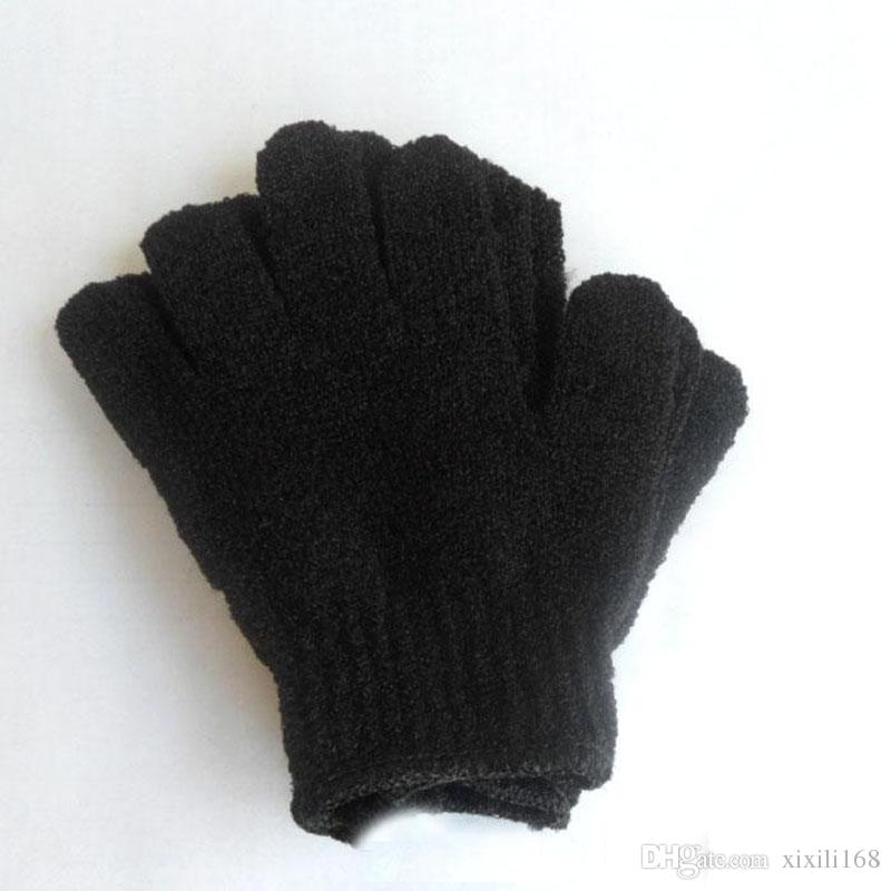 Exfoliating Spa Bath Gloves nylon Brush Scrub Shower Gloves Scrubber