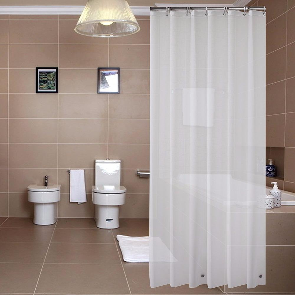 PEVA 8G Shower Curtain LinerWaterproofOdorlessMildew Resistance Eco Friendly With Bottom Magnets And Metal Grommets UK 2019 From Hariold