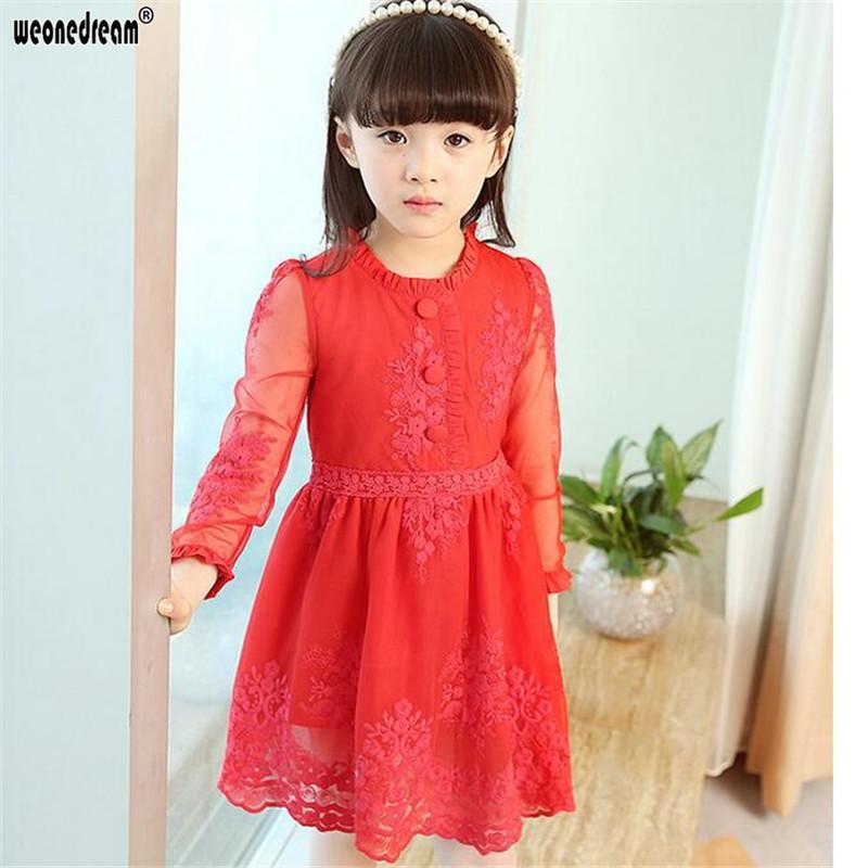 WEONEDREAM Printemps Été Enfants Robes pour Filles Robe De Princesa Filles Vêtements Princesse Dentelle Bébé Fille Robe Enfants Vêtements